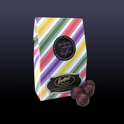 Plain Chocolate Blackberry Absinthe Truffles